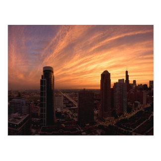 Chicago Twlight Postcard