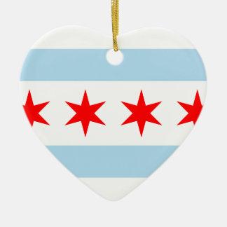 Chicago, United States Ceramic Heart Decoration