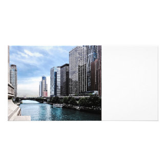 Chicago - View From Michigan Avenue Bridge Photo Greeting Card