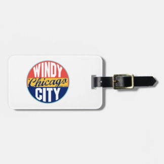 Chicago Vintage Label Luggage Tag