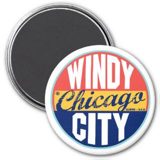 Chicago Vintage Label 7.5 Cm Round Magnet