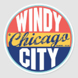 Chicago Vintage Label Stickers