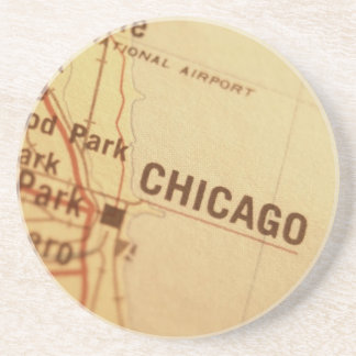 CHICAGO Vintage Map Coaster