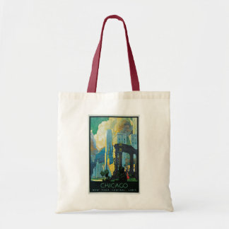 """Chicago"" Vintage Travel Poster Tote Bag"
