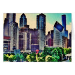 Chicago watercolor note card