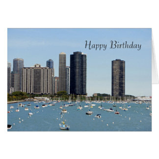 Chicago Waterfront Birthday Card