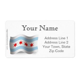 Chicago Waving Flag