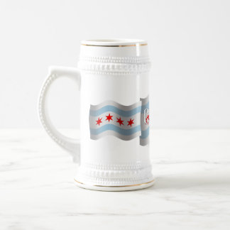 Chicago Waving Flag Beer Stein