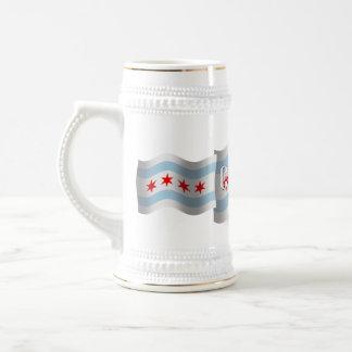 Chicago Waving Flag Coffee Mugs