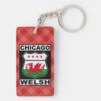 Chicago Welsh American Keyring