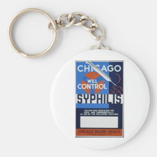 Chicago Will Control Syphilis Key Ring