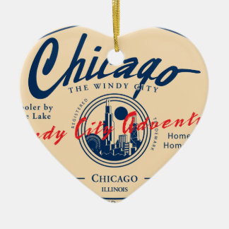 Chicago Windy City Christmas Ornament