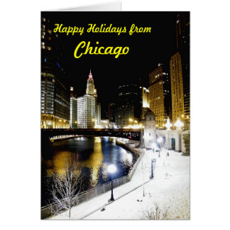 Chicago Winter Greeting Card