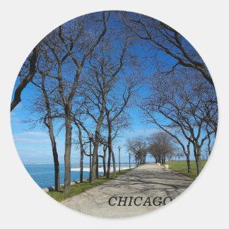 Chicago-Winter Round Sticker