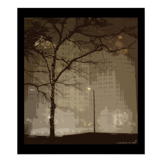 Chicago Winter Wonderland Poster