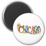 Chicago-With-SUn---KIDS Fridge Magnet