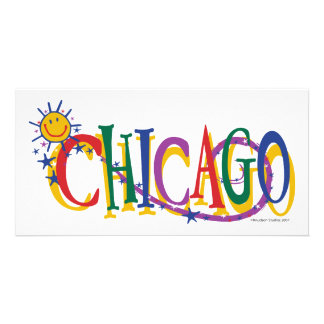 Chicago-With-SUn---KIDS Photo Greeting Card