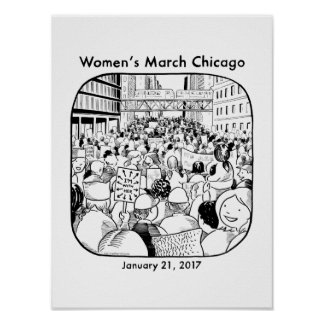 Chicago Women's March Poster