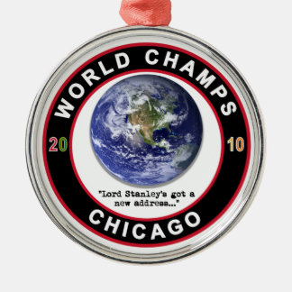 CHICAGO WORLD CHAMPS Silver-Colored ROUND DECORATION