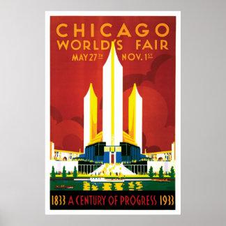 Chicago World's Fair 1933 Poster