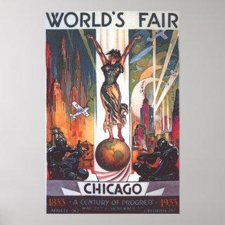 Chicago World's Fair 1933 Vintage Poster