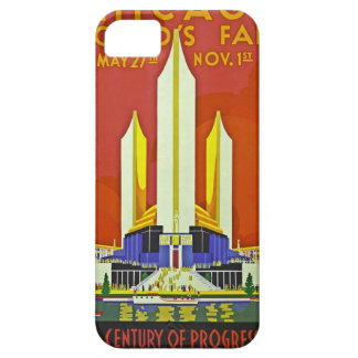 Chicago Worlds Fair 1933 Vintage Travel Poster Art iPhone 5 Cover