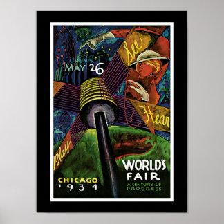 Chicago World's Fair 1934 Poster