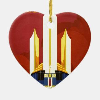 Chicago world's fair. A century of progress Ceramic Heart Decoration