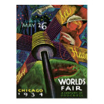 Chicago World's Fair US Vintage Travel Postcard
