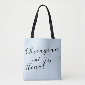 Chicagoan At Heart Grocery Bag, Chicago Tote Bag