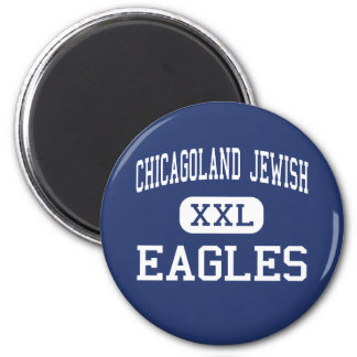 Chicagoland Jewish - Eagles - High - Northbrook 6 Cm Round Magnet