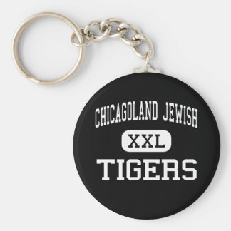 Chicagoland Jewish - Tigers - High - Deerfield Basic Round Button Key Ring