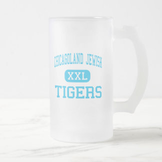 Chicagoland Jewish - Tigers - High - Deerfield Frosted Glass Mug