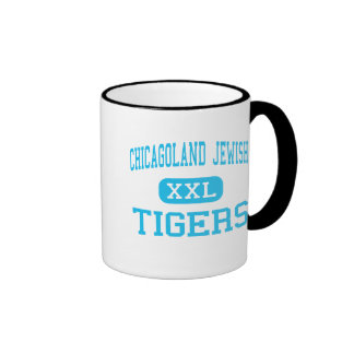 Chicagoland Jewish - Tigers - High - Deerfield Ringer Mug