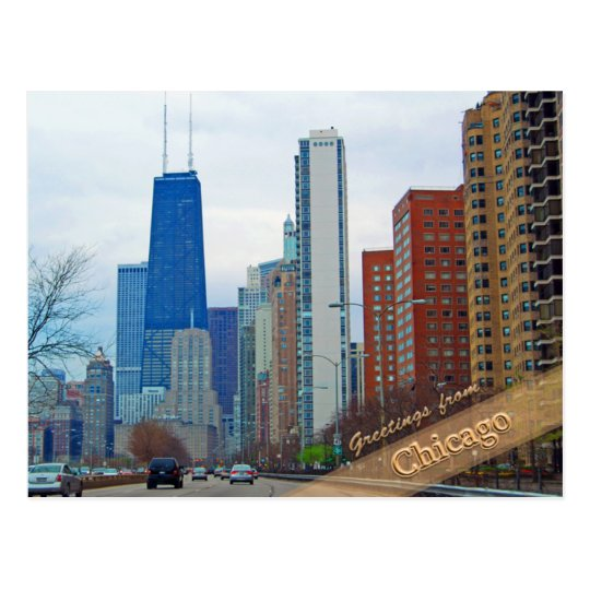 Chicago's Michigan Avenue Postcard