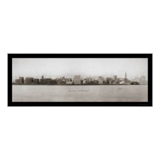 Chicago's Waterfront Photo 1907 Poster