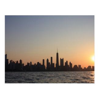chicagosunset postcard