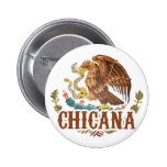 Chicana Mexico Coat of Arms Badge