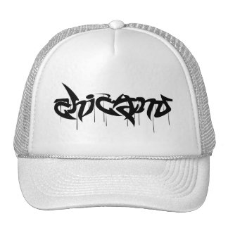 Chicano wildstyle design mesh hats