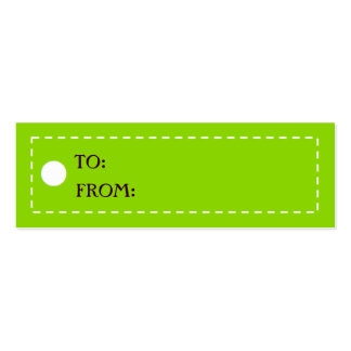CHICEST GIFT TAGS - Customized Business Card Templates