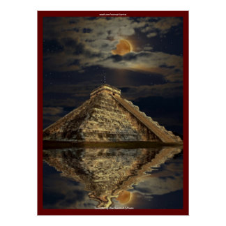 Chichen Itza Ancient Mayan Temple Art Poster