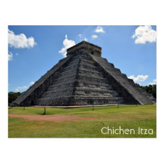 Chichen Itza Mexico Kukulkan Pyramid 7 Wonders Postcard