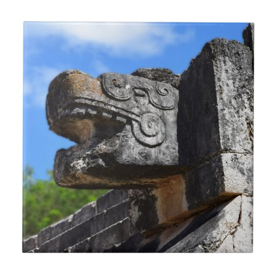 Chichen Itza Mexico Kukulkan Waxaklahun Ubah Kan Tile