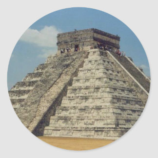 Chichen Itza Round Sticker