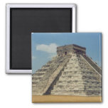 Chichen Itza Square Magnet
