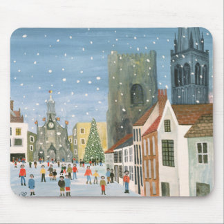Chichester Cathedral A Snow Scene Mouse Pad