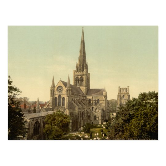 Chichester Cathedral, Sussex, England Postcard