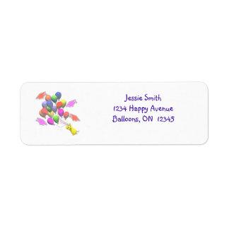 Chick and Balloons Kindergarten Graduation Return Address Label