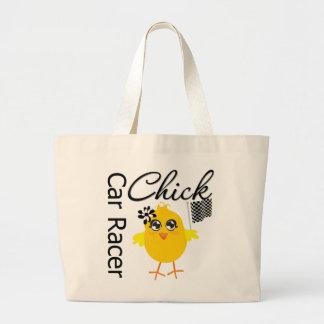 Chick Car Racer Jumbo Tote Bag
