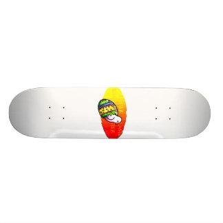 chick colorful egg easter sunset background skate board
